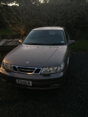 2001 Saab, current WOF and Rego and good tyres